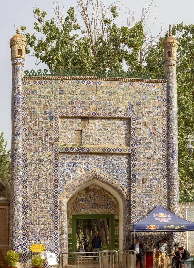 Tessere sul portone dell'entrata alla tomba del Concubine fragrante, fotografie stock