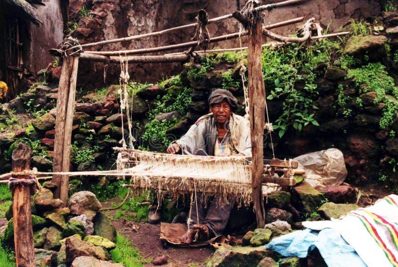 Tessitore etiopico fotografia stock