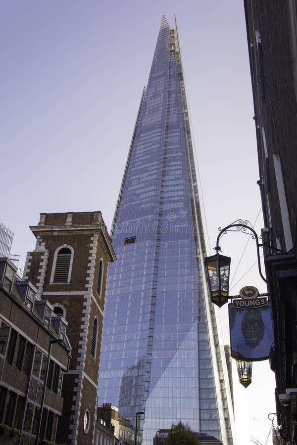 Tesson de Londres de paysage urbain de Londres photo stock