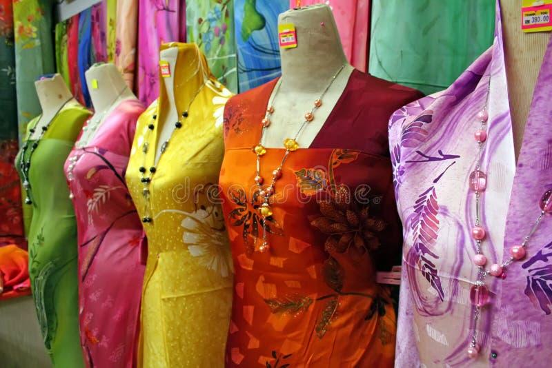 Tessuti asiatici tradizionali fotografie stock