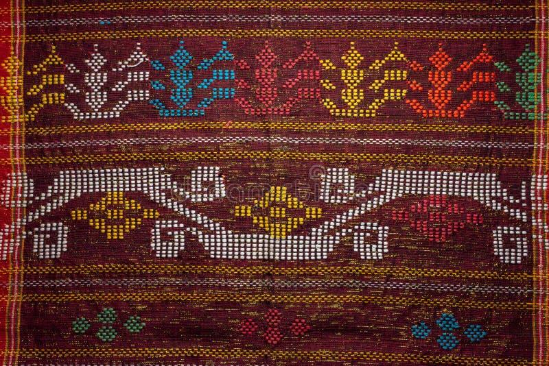 Tessuti colorati dell'industria tessile indonesiana immagine stock