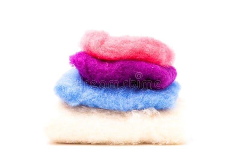 Tessuti colorati della lana fotografia stock libera da diritti