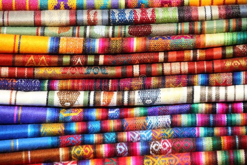 Tessuti tradizionali (peruviani) del Ecuadorian immagini stock libere da diritti