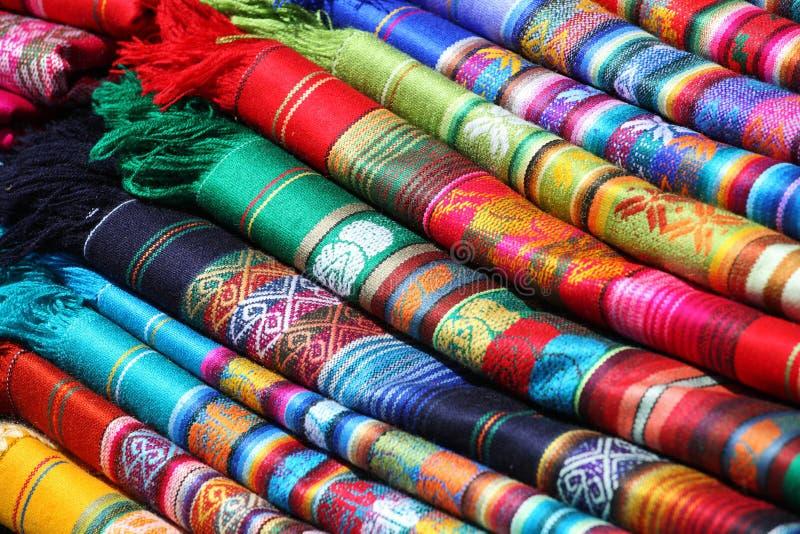 Tessuti tradizionali (peruviani) del Ecuadorian fotografia stock