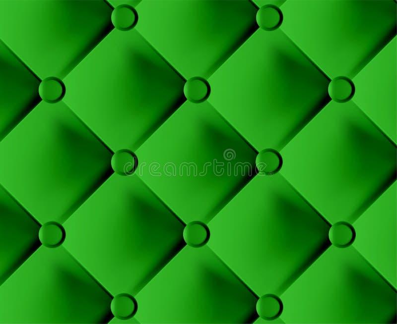 Tessuto alla moda verde con i perni illustrazione vettoriale