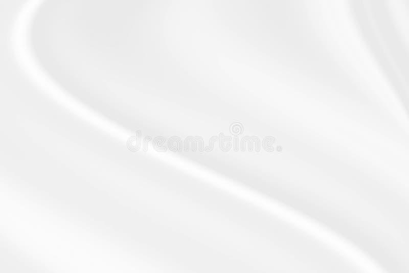 Tessuto bianco del raso come progettazione di struttura del fondo illustrazione di stock