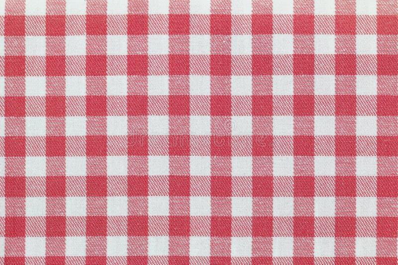 Tessuto con il modello rosa controllato del percalle immagini stock libere da diritti