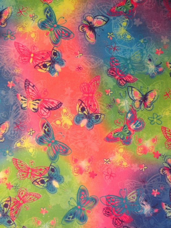 Tessuto con la farfalla fotografie stock