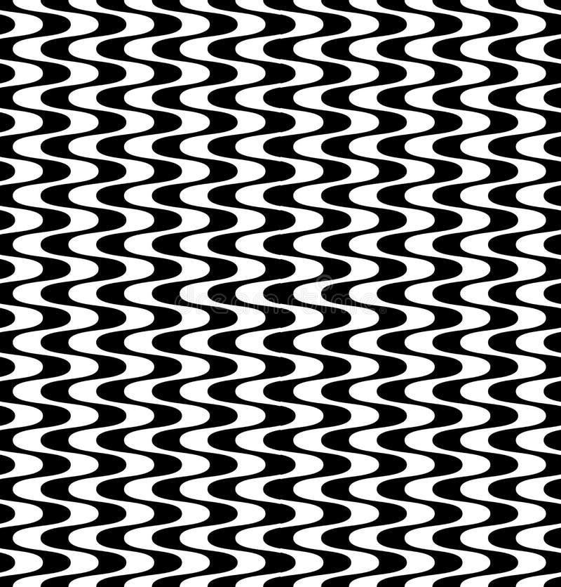 Tessuto del modello della geometria dell'estratto dei pantaloni a vita bassa di vettore, fondo senza cuciture in bianco e nero de illustrazione di stock