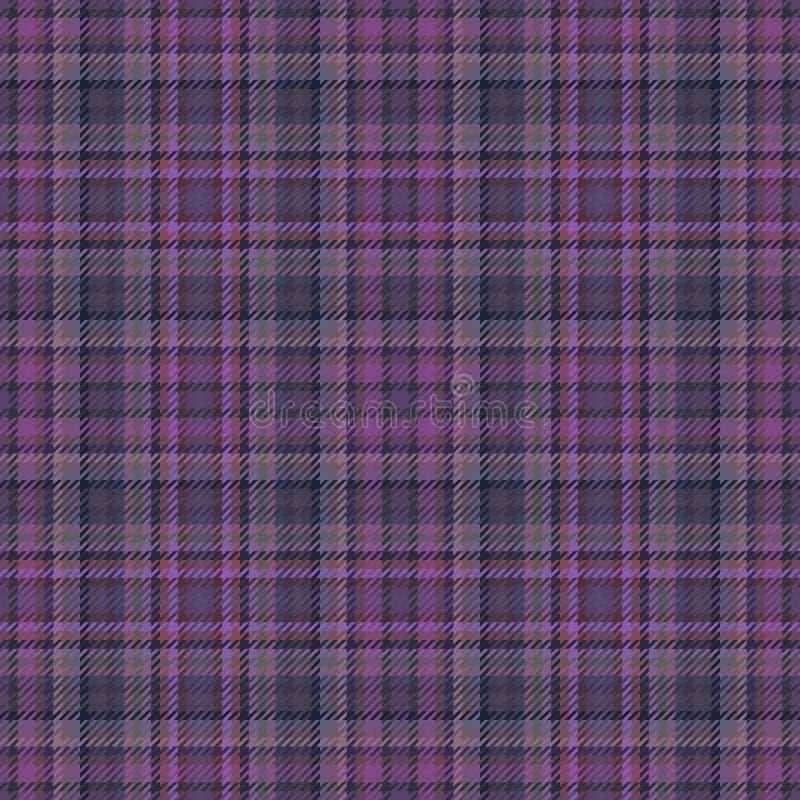 Tessuto del plaid e modello scozzesi del tartan, linea progettazione illustrazione di stock