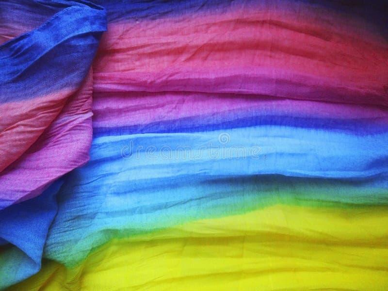 Tessuto dell'arcobaleno immagini stock libere da diritti