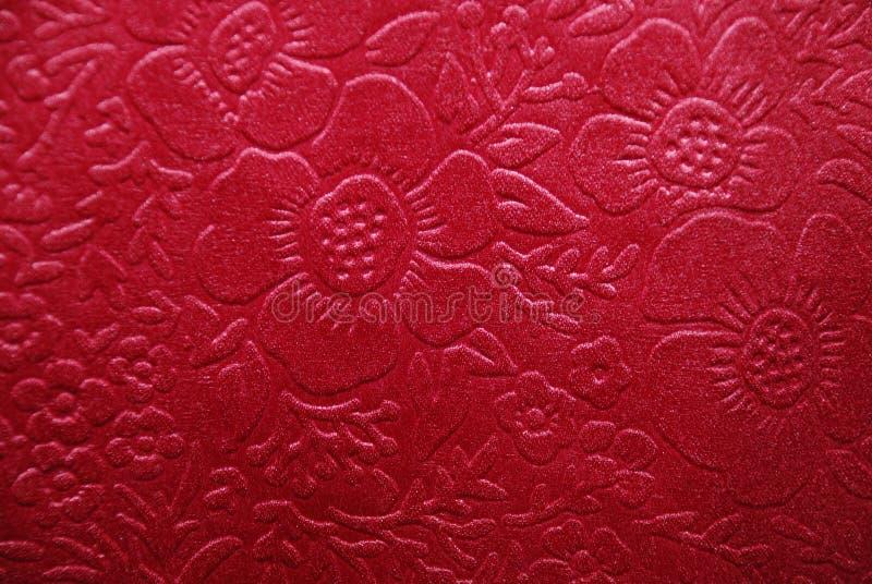 Tessuto della ciliegia con i disegni floreali immagini stock libere da diritti