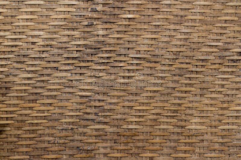 Tessuto di bambù Brown del modello Stile natale fotografia stock libera da diritti