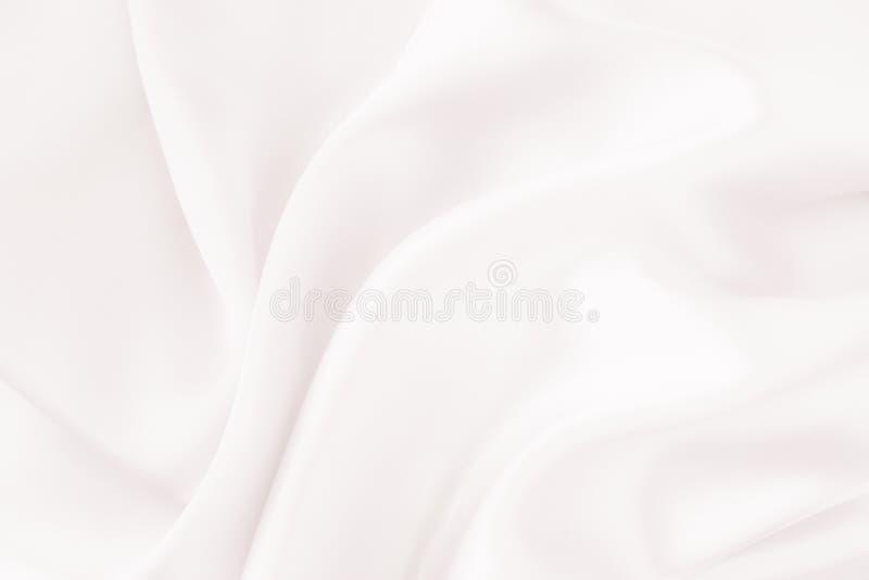 Tessuto di seta bianco - molle, elegante e delicato fotografia stock libera da diritti