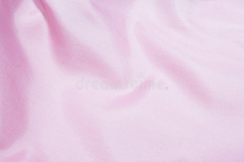 Tessuto di seta rosa fotografie stock