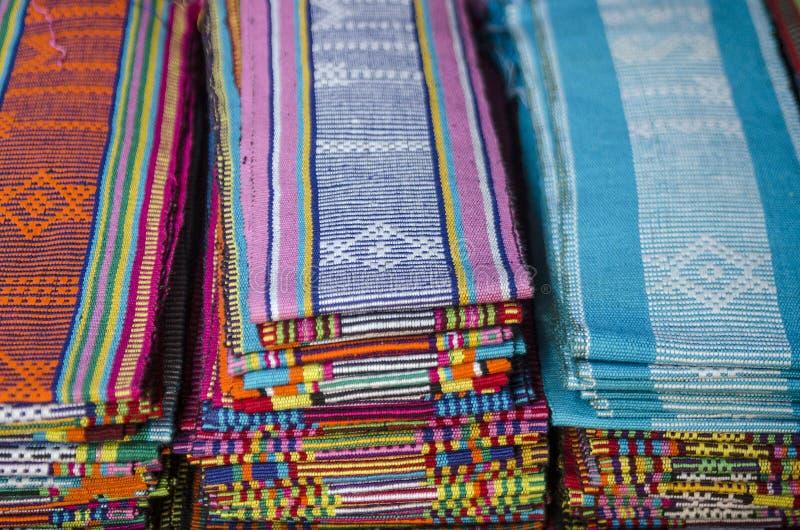 Tessuto di Tais a dili Timor Orientale, Timor Orientale fotografia stock libera da diritti
