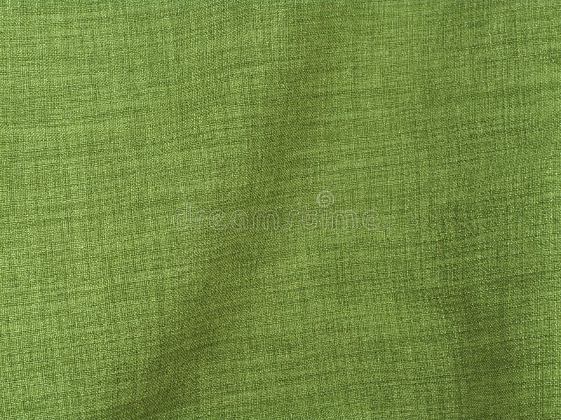 Tessuto di tela verde fotografia stock