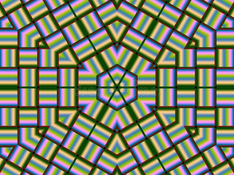 Tessuto esagonale illustrazione di stock