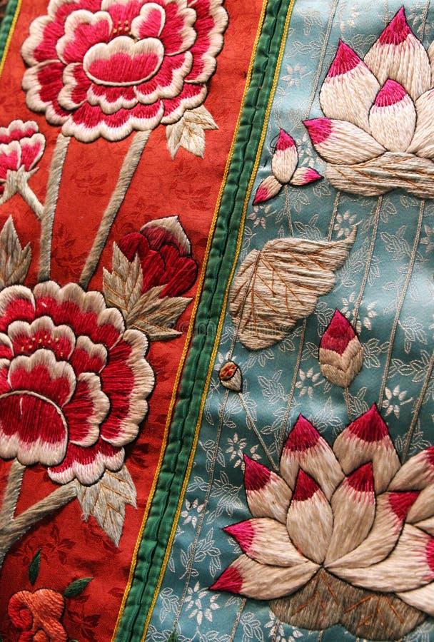 Tessuto floreale immagine stock