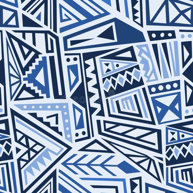 Tessuto geometrico blu royalty illustrazione gratis