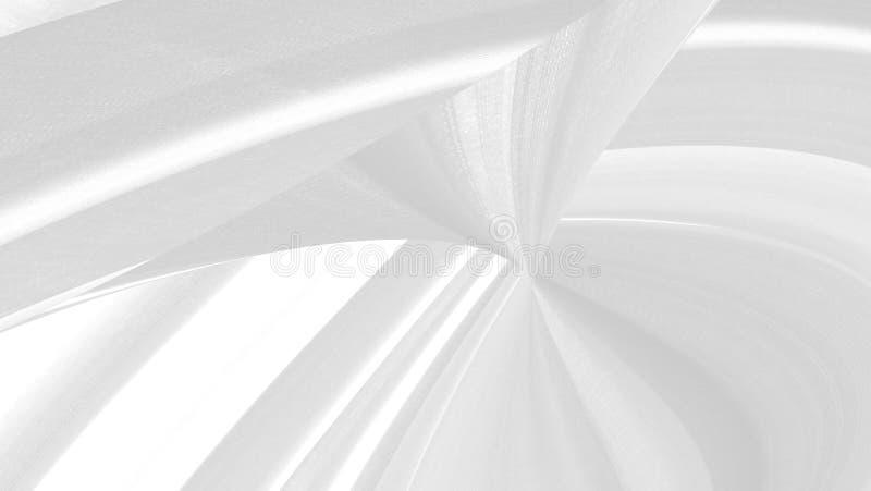 Tessuto morbido dimensioni astratte curva curva curva ballon forma decorazione sfondo bianco e grigio nessun popolo lucidatura cr immagini stock