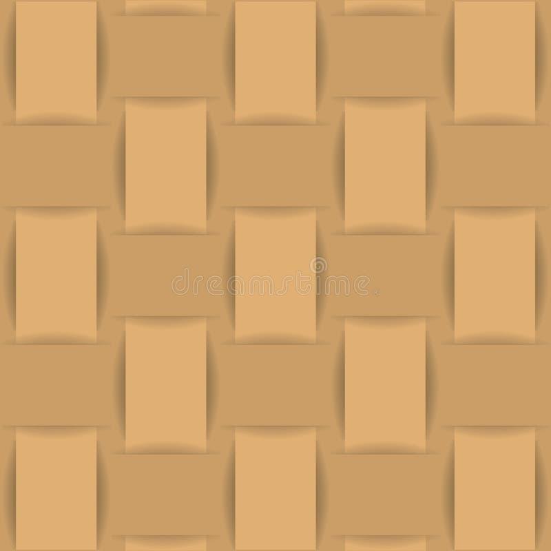 Tessuto o carta di tessuto del fondo di Brown royalty illustrazione gratis