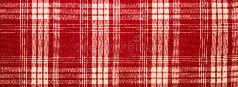 Tessuto rosso in una gabbia fotografia stock