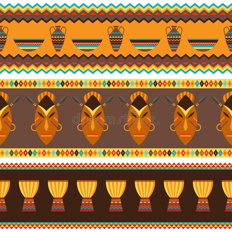Tessuto senza cuciture geometrico astratto africano etnico illustrazione di stock
