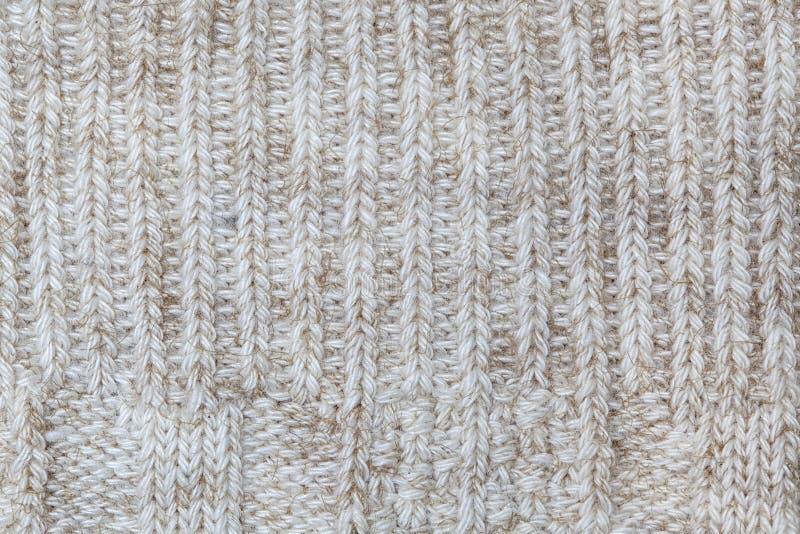 Tessuto - serie del tessuto - lana tricottata rustica immagine stock