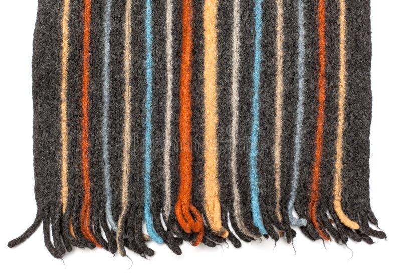 Tessuto - serie del tessuto - scialle tricottato lana fotografia stock libera da diritti