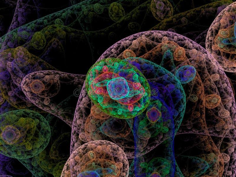 Tessuto umano sotto un microscopio fotografia stock