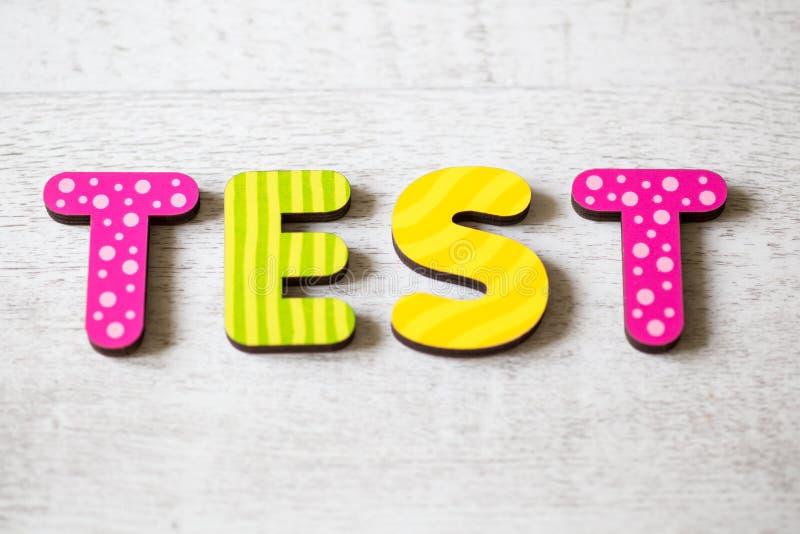 test obrazy stock