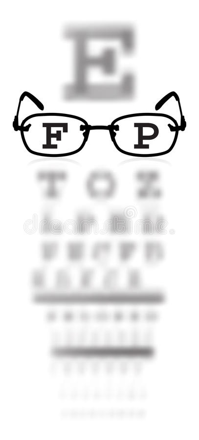 Free Test Alphabet In Oculist Room With Glasses Royalty Free Stock Photography - 13846357