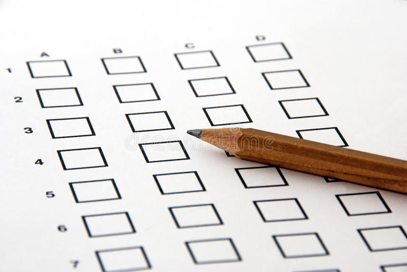 Download Test - the answer sheet stock image. Image of educational - 14177261