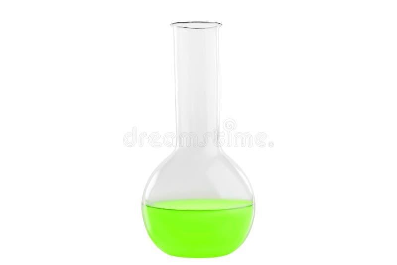 Test-buis met kruidendievloeistof, op witte achtergrond wordt geïsoleerd Geneeskunde, Chemie Horizontaal kader royalty-vrije stock fotografie