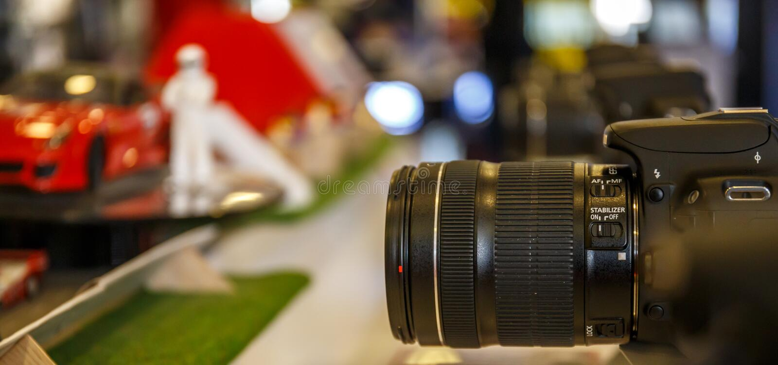 Test of cameras. Stand the test of cameras royalty free stock image