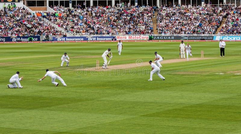 Test Cricket Match stock photo