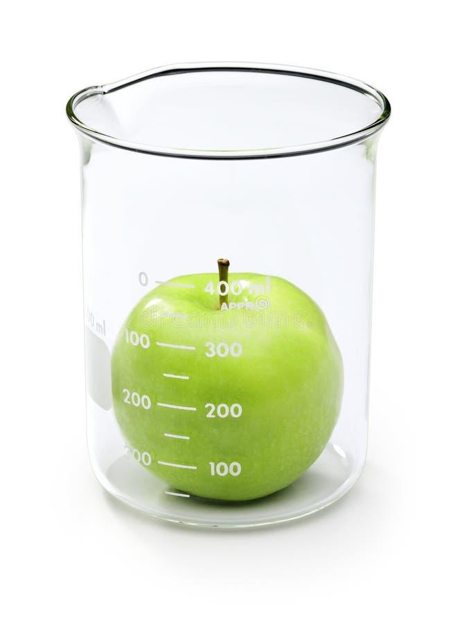 test de sciences de l'alimentation de pomme image stock