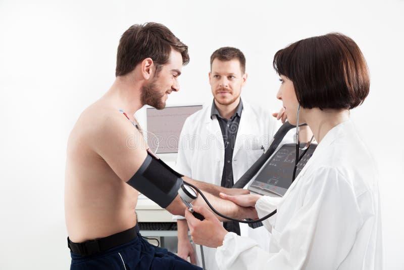 Test de tension cardiaque photographie stock