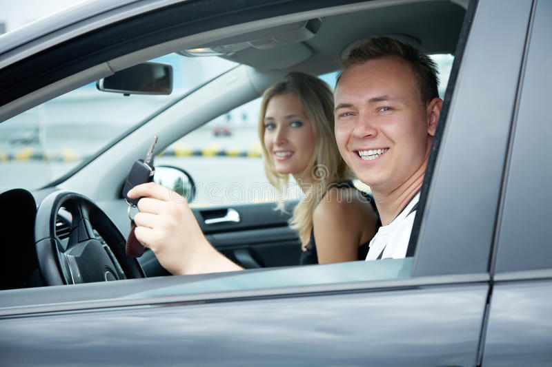 Test drive royalty free stock images