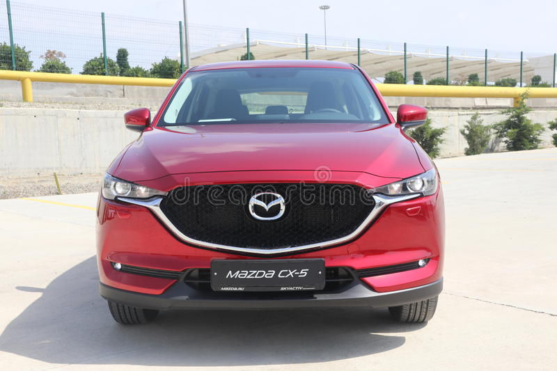 Test-drive of second generation restyled Mazda CX-5 crossover SUV. Baku, Azerbaijan - May 27, 2017: sneak preview and test-drive of second generation restyled royalty free stock photography