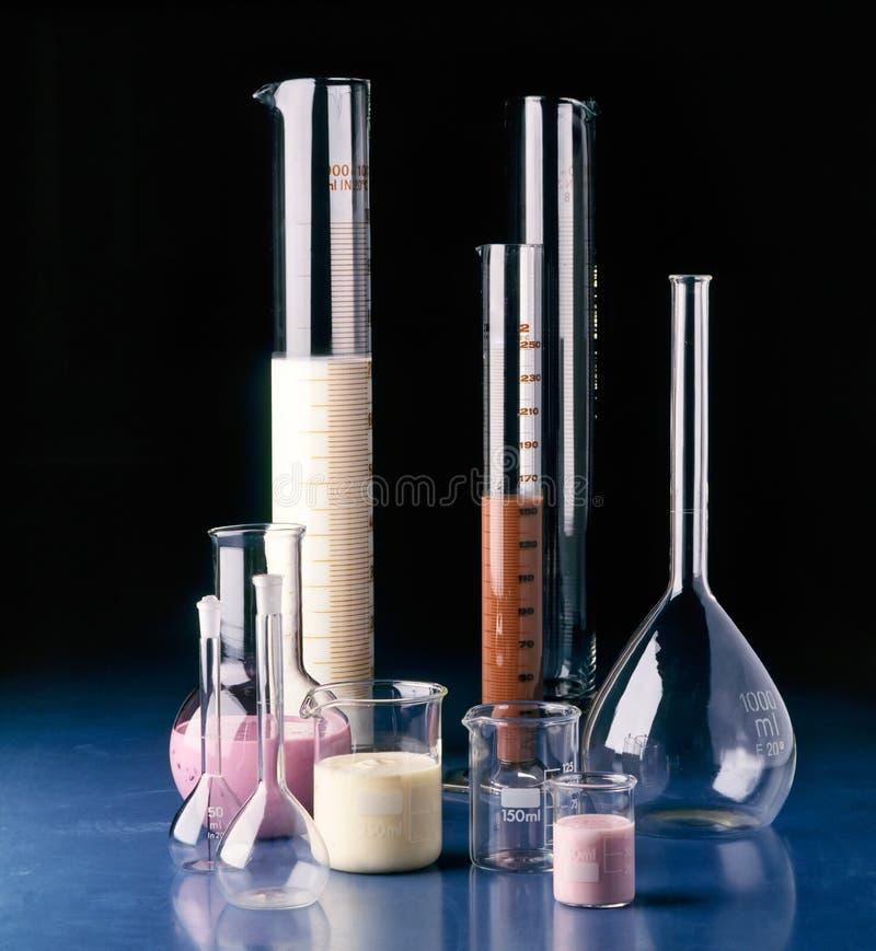 Test en het meten van glazen stock afbeelding