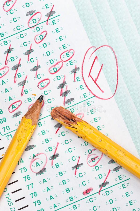 Download Test failure stock image. Image of learning, paper, disappointment - 24536001