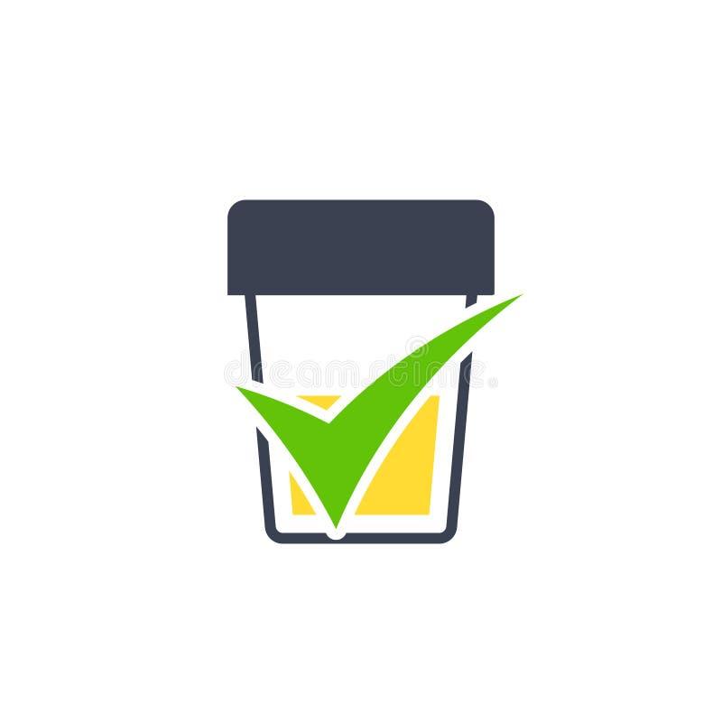 Test moczu ikona ilustracja wektor