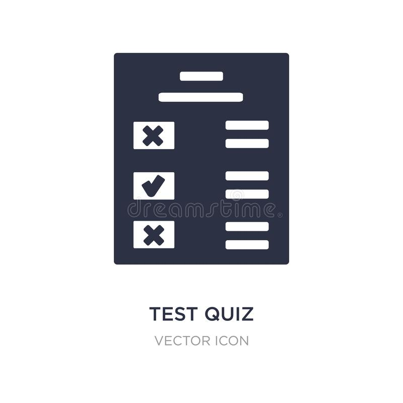 test quiz icon on white background. Simple element illustration from UI concept stock illustration