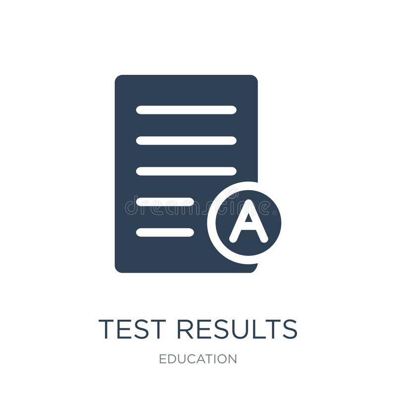 test results icon in trendy design style. test results icon isolated on white background. test results vector icon simple and vector illustration