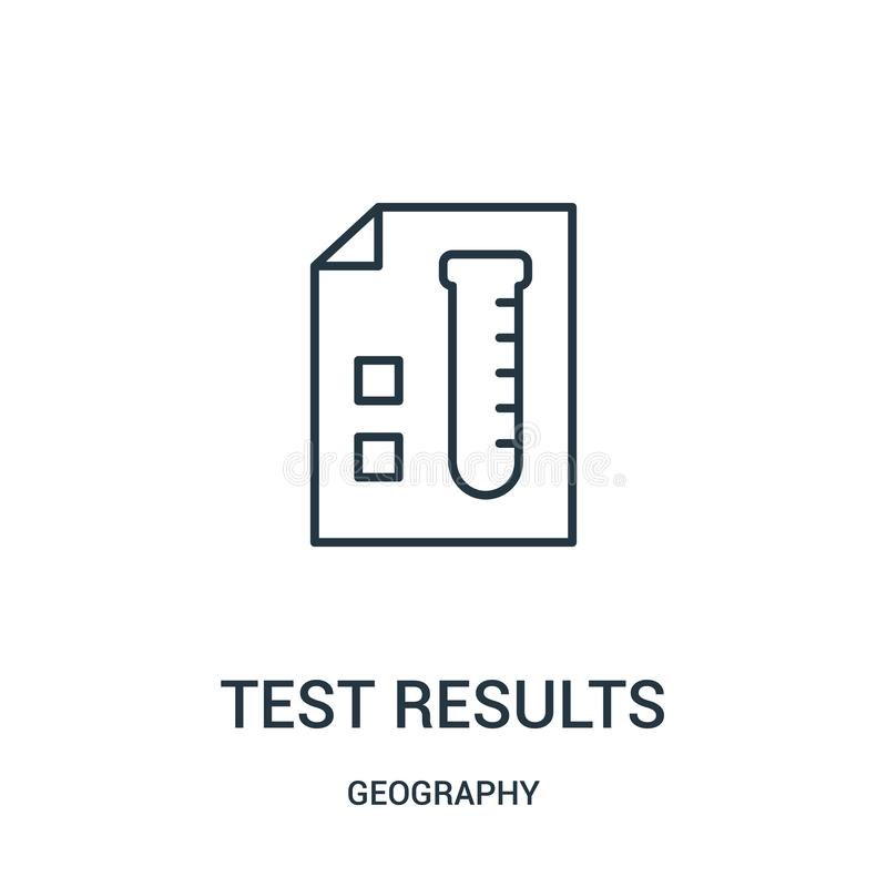 test results icon vector from geography collection. Thin line test results outline icon vector illustration vector illustration