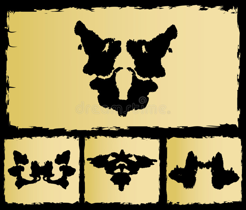 The test rorschach set image royalty free illustration