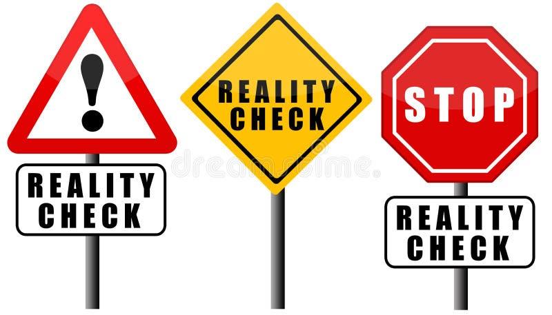Test rzeczywistości ilustracja wektor