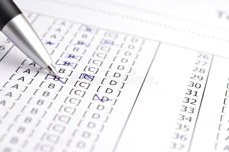 Test score stock photo